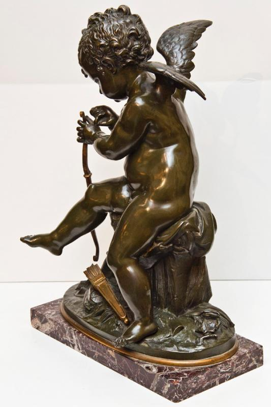 Antique Cupid Bronze Sculpture After Charles Gabriel Sauvage ( AKA Lemire )