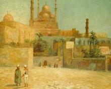 Citadel of Cairo Fontville de Breanski Jr Orientalist Oil Painting