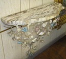 Wrought Iron Floral Mirror & Wall Console