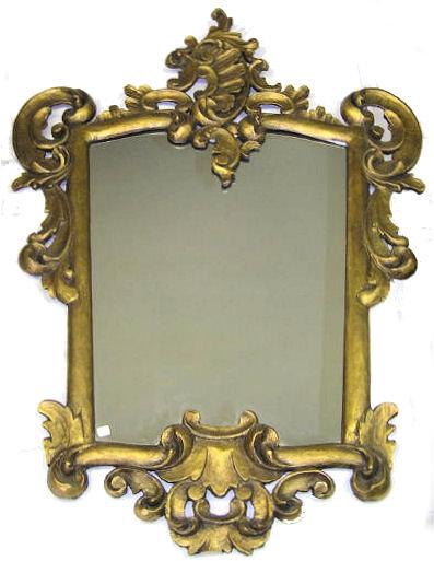 Rococo Giltwood & Composition Mirror