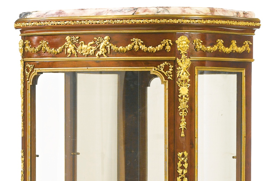 Linke Signed Louis XV Style Vitrine Display Cabinet