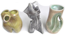 (3) Heifetz Mid-Century Ceramic Lamp Bases