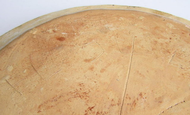Modernist Abstract Earthenware Plate