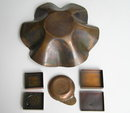Rebajes 1 Copper Bowl 2 Boxes & 1 Ashtray