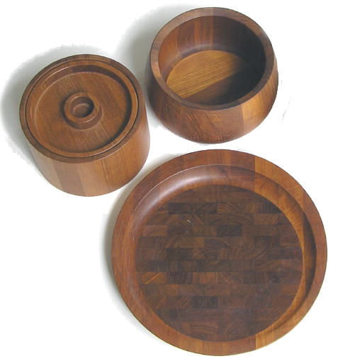 Dansk Cheese Platter Salad Bowl 2 Ice Buckets