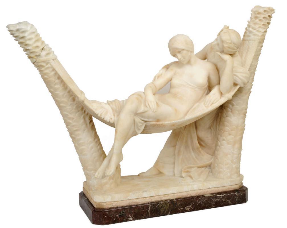 Emilio Fiaschi (Italian, 1858-1941) Marble Orientalist Sculpture