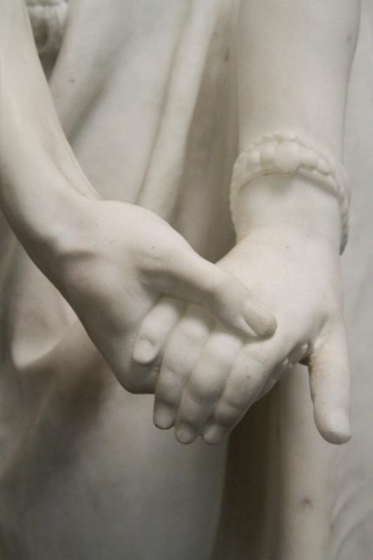 Othello and Desdemona Italian Carrara Marble Statue by Carados