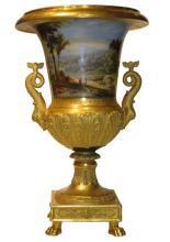 Antique Paris Porcelain Campana Vase