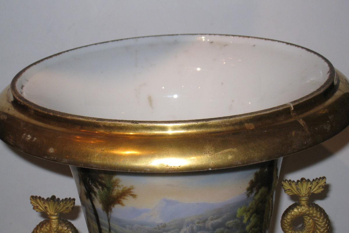 Antique Paris Porcelain Campana Vase