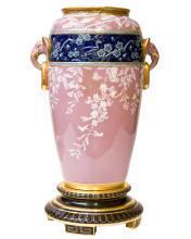 Minton Antique Aesthetic Chinese Oriental Style Pate-sur-pate Porcelain Vase