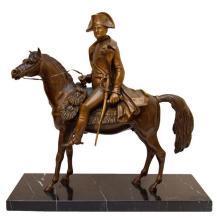 Napoleon on Horseback Antique Bronze Figurine Statue Sculpture