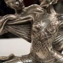 French Art Deco Silvered Metal Ballerina Ballet Dancer Sculpture Statue