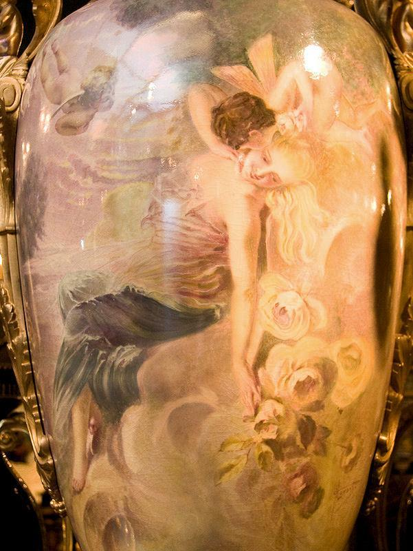 Palatial Antique Sevres Style Urn Vase Painted by Maxant
