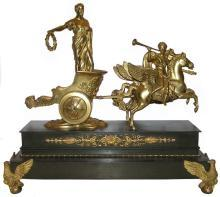 Antique Roman Chariot Racer Bronze Sculpture
