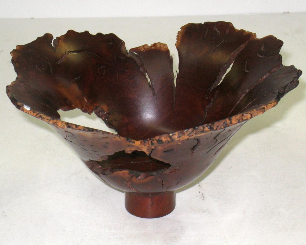 Hap Sakwa Wild Lilac Lotus Wooden Bowl