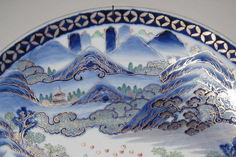 Antique Edo Period Imari Arita Japanese Porcelain Charger