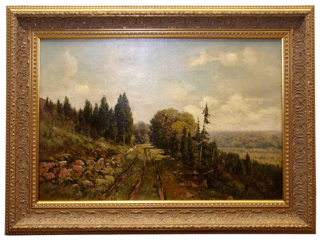 Paul R Koehler Antique American Landscape Oil Painting