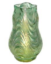 Antique Loetz Wellenoptisch Oceanik Decor Glass Vase c1900s