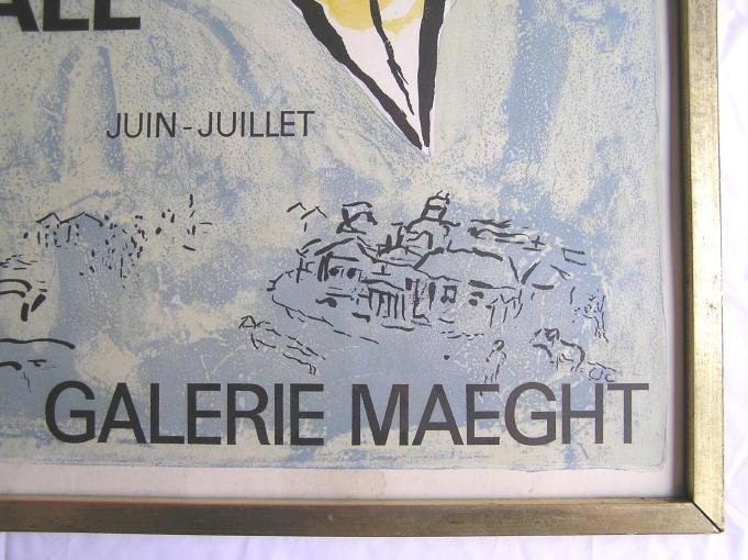 Marc Chagall Galerie Maeght Paris Poster from 1964