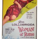 1956 WOMAN OF ROME Starring Italian Gina Lollobrigida 1 Sheet Movie Film Poster Board