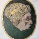 Framed Antique Roman Stone Mosaic Portrait