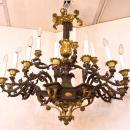Antique Gilt and Patinated Bronze Empire Style Chandelier