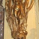 Pair Belle Epoque Art Nouveau Period Gilt Bronze Figural Sconces