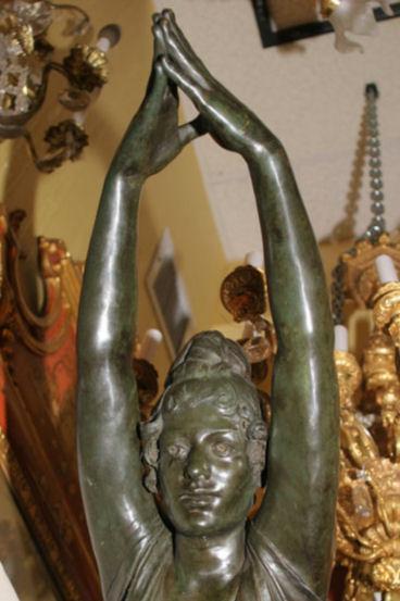 Bronze Statue of Female Diving Swimmer Bather After La Tuffolina by Odoardo Tabacchi