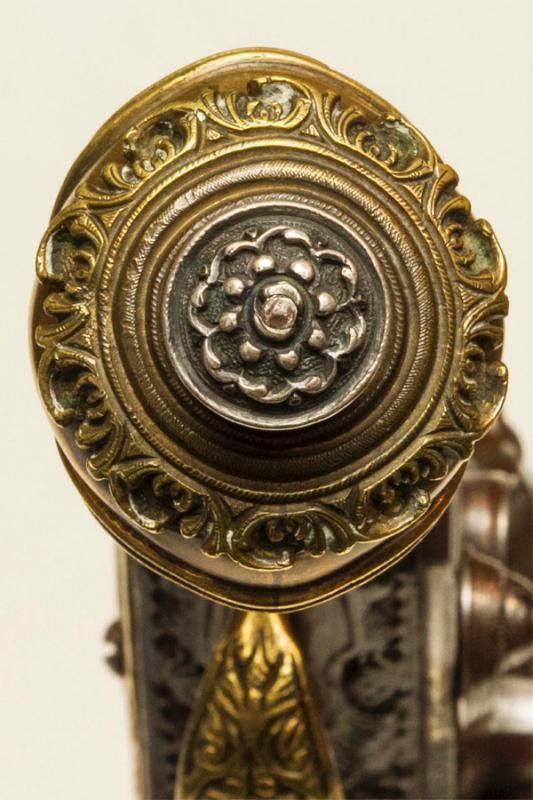 Pair Antique Indo-Persian or Turkish Ottoman Jewelled Pistols