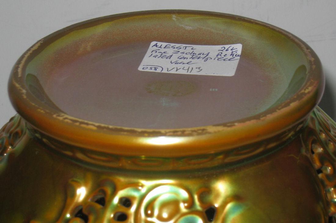 Zsolnay Hungarian Art Nouveau Lustre Glaze Centerpiece Bowl