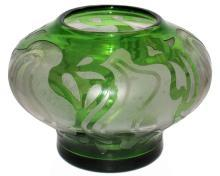 Honesdale American Art Nouveau / Art Deco Cameo Glass Vase