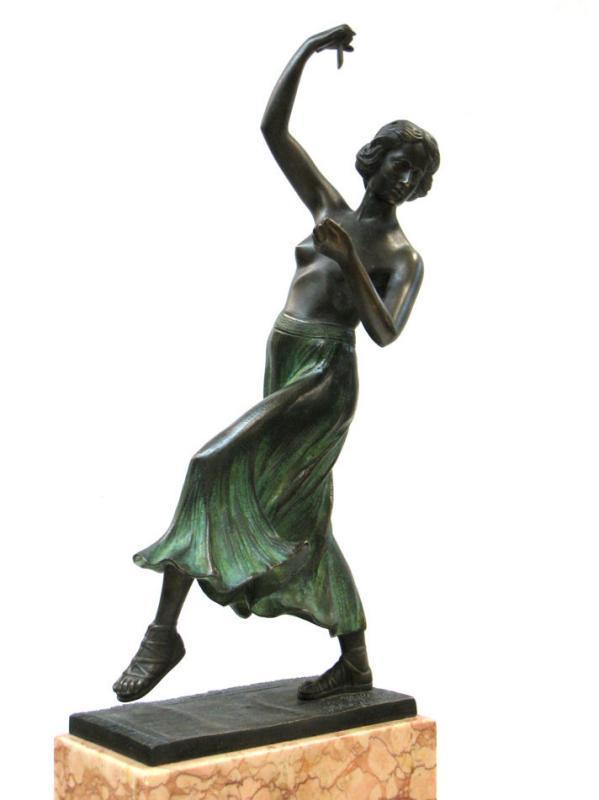 Charles Holand von Hohenstaufen Spanish Flamenco Dancer Bronze Sculpture