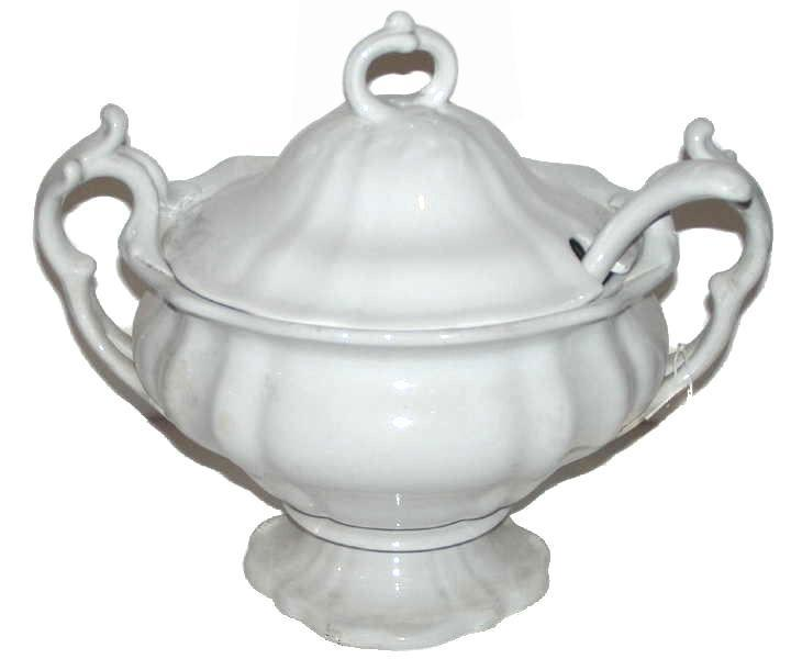 Antique Petrus Regout & Co Creamware Tureen