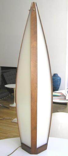 Danish Mid-Century Modern Teak Lamp