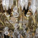 Palatial Antique 34-Candle Brass and Crystal Chandelier