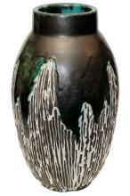 French Art Deco Period Ceramic Vase by Felix Gete for Ceramique d'Art d Bordeaux (CAB)