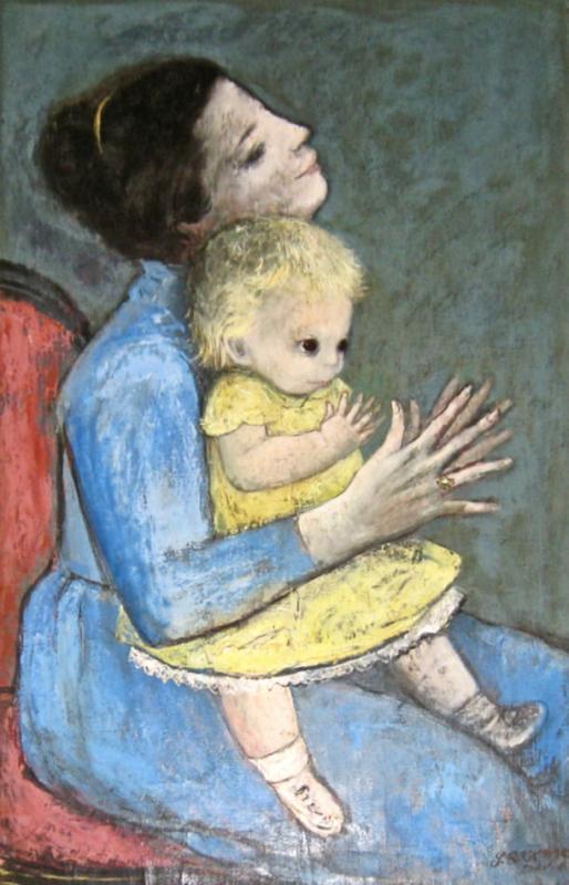 Gladys Rockmore Davis Mother & Child Portrait