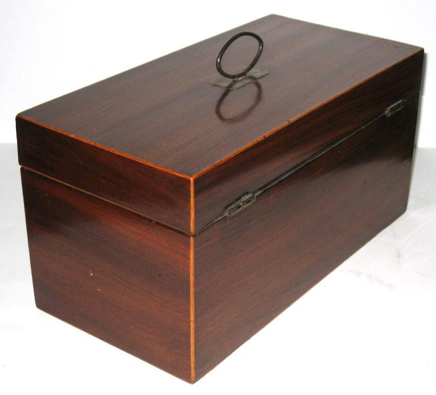 Antique English Regency Mahogany Tea Caddy