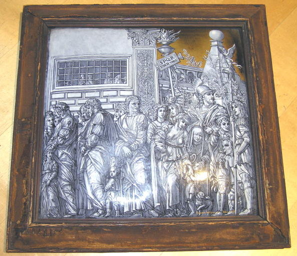 Antique WAHRMUND Wein Vienna Enamel Plaque