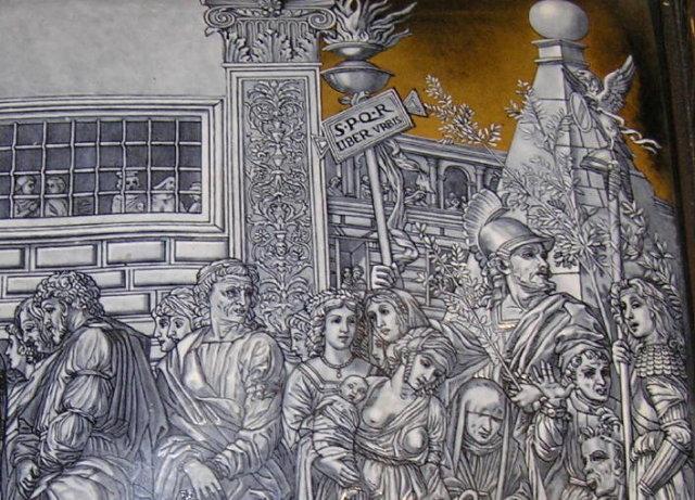 Antique WAHRMUND Wein Vienna Enamel Plaque