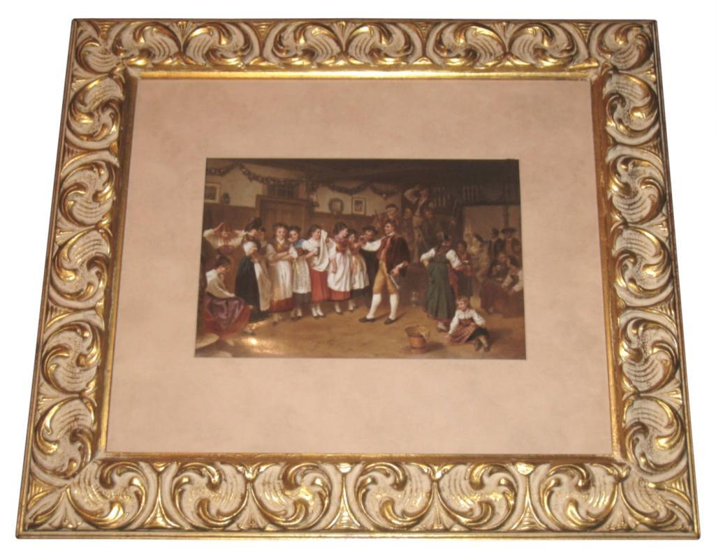 KPM Porcelain Plaque Alsatian German Wedding by Tadra After Vautier
