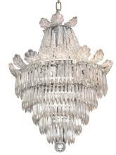 French Cascading Crystal Chandelier