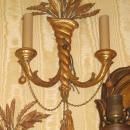 Set Four 4 Italian Neoclassical Style Antique Giltwood Sconces