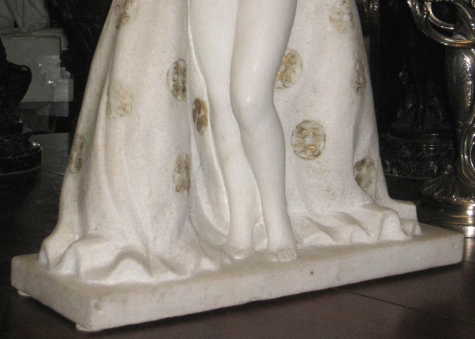 Marcel Louis Botinelly Art Deco Period Marble Figurine Sculpture