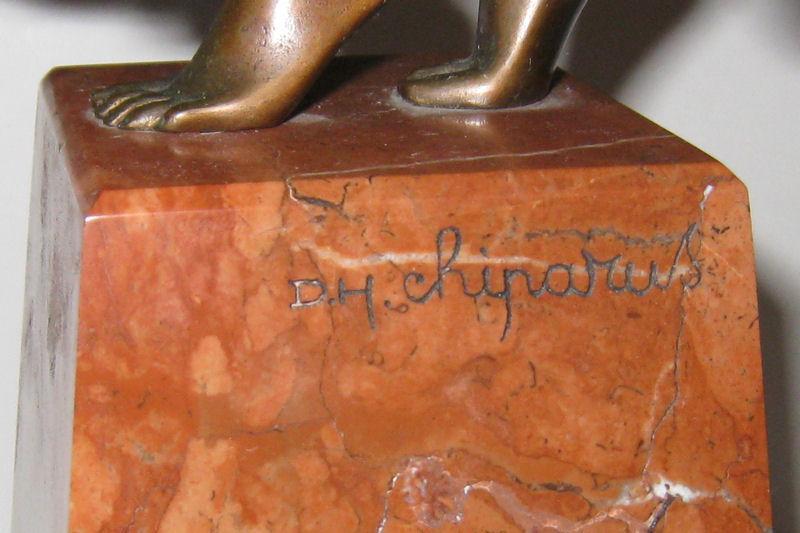 Chiparus Danseuse Indoue ( Hindu Dancer ) Art Deco Bronze Figurine Sculpture