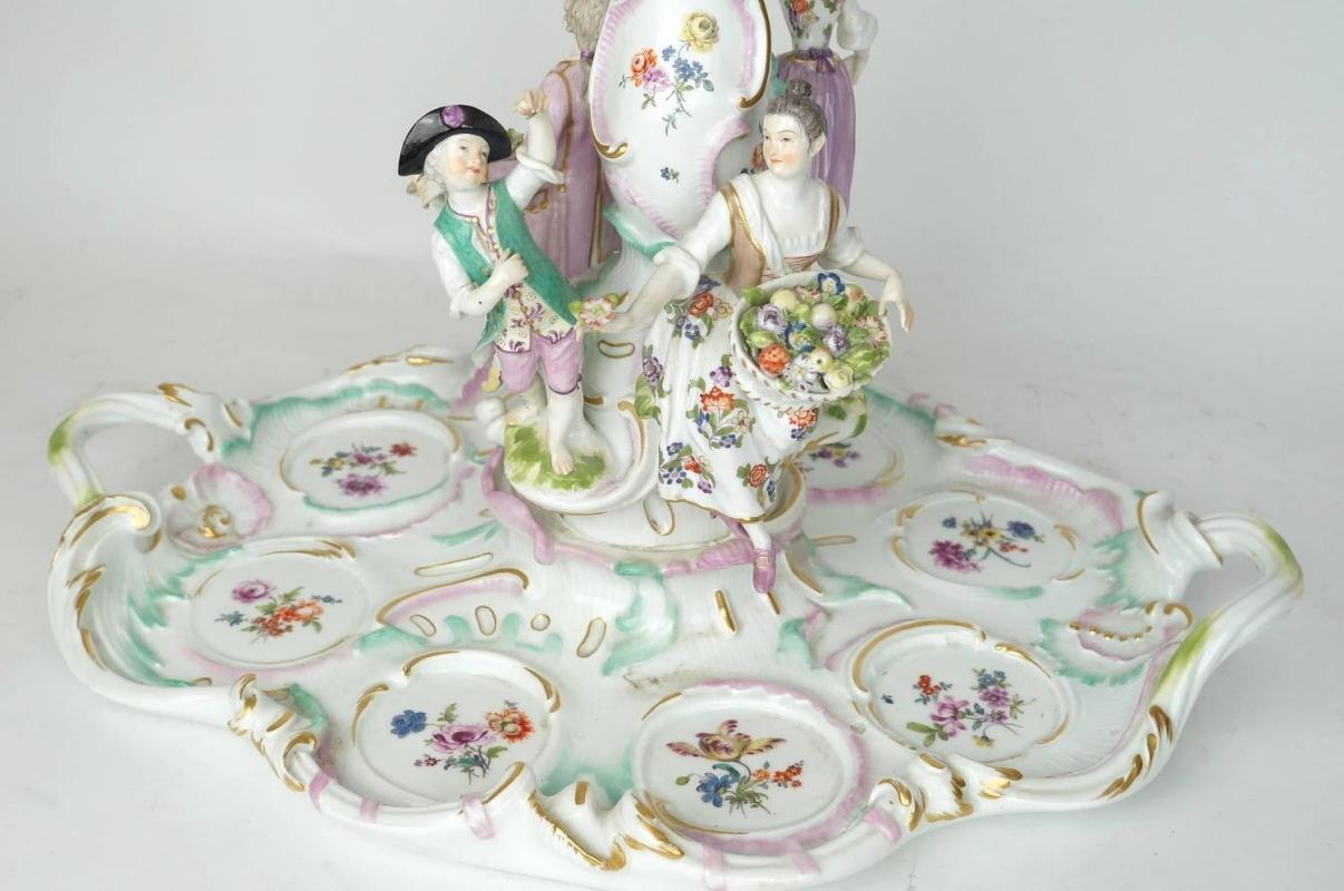 Antique Meissen Figural Centerpiece Tazza