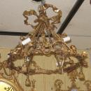 Vintage Louis XV Style Gilt Bronze Chandelier