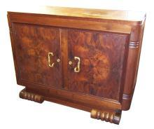 French Art Deco Figured Walnut Sideboard