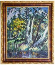 Impressionist Wooded Landscape Oil Painting by Emeric