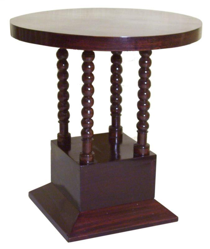 Art Deco Mahogany Pedestal Side Table